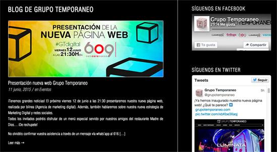 Blog de la nueva página web de Grupo Temporaneo